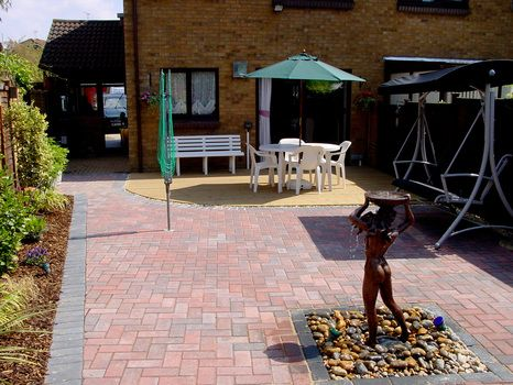Block paved patio | Garden ideas | Pinterest | Paved patio, Patios ...