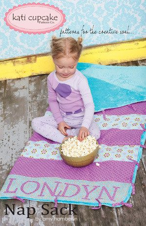 Kati Cupcake Nap Sack Pattern includes 3 by BaileyGirlsFabric,