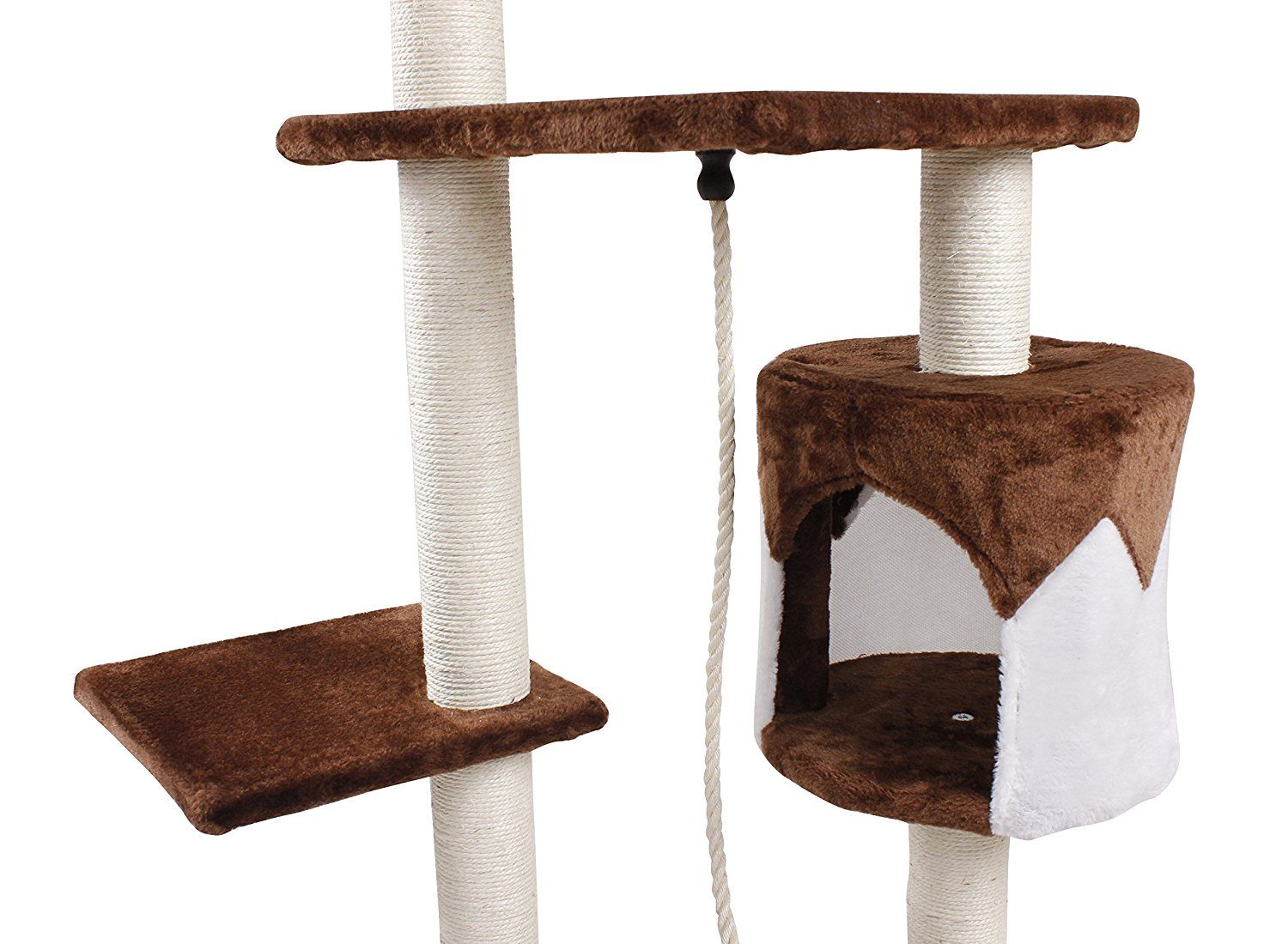 Andeworld Large Cat Trees Condo House Furniture For Cats And Kittens Cats Climb Jump And Sleep Playground Be Sure T Large Cat Tree Cat Tree Condo Cat Tree