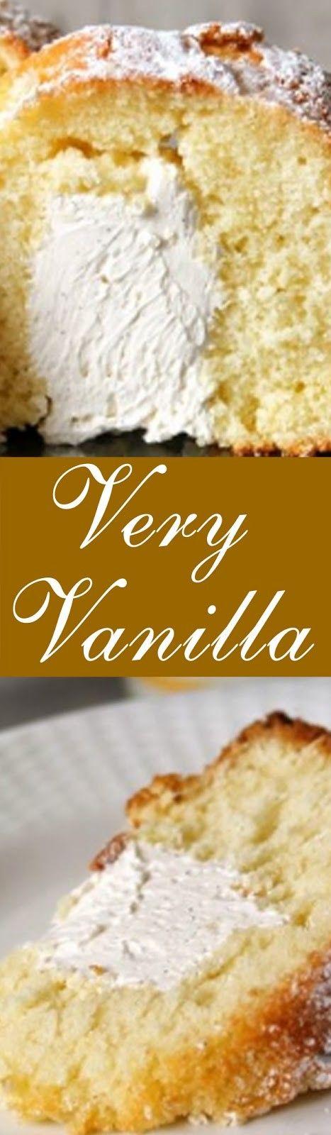 """VERY VANILLA """"TWINKIE"""" BUNDT CAKE #marshmallows"""