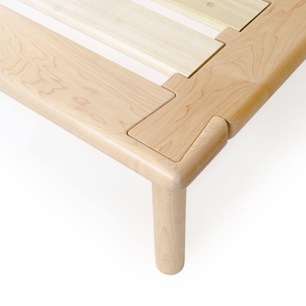 Maple Wood Platform Bed No. 4 - Solid Wood Bed Frame with ... on Modern Boho Bed Frame  id=30113