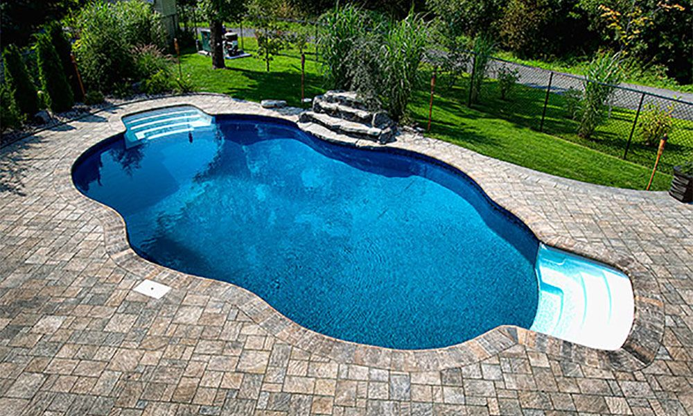 Caribbean Inground Pool Shape And Sizes Options Water World Pools Peterborough On Pool Swimming Pool Hot Tub Inground Pool Shapes