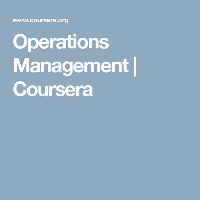 role of operations management in an organisation