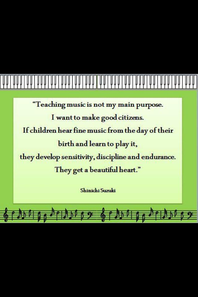 """why teach music The benefits of music education  """"schools that have rigorous programs and high-quality music and arts teachers probably have high-quality teachers in other areas if you have an environment ."""