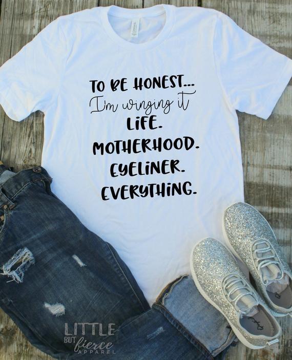 766c6db6e62 Winging it Mom Shirt- Mom Shirt - Mom tee - funny mom shirts - Mama Shirts  - Mom shirt with saying-