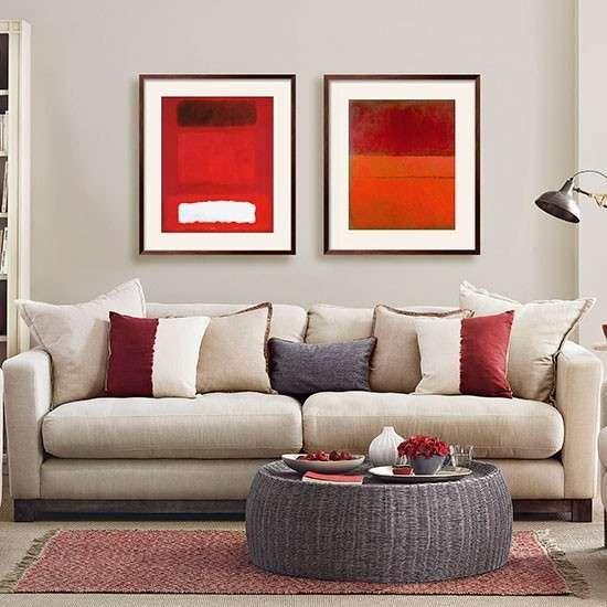Colori pareti soggiorno - Una parete grigia in soggiorno ...