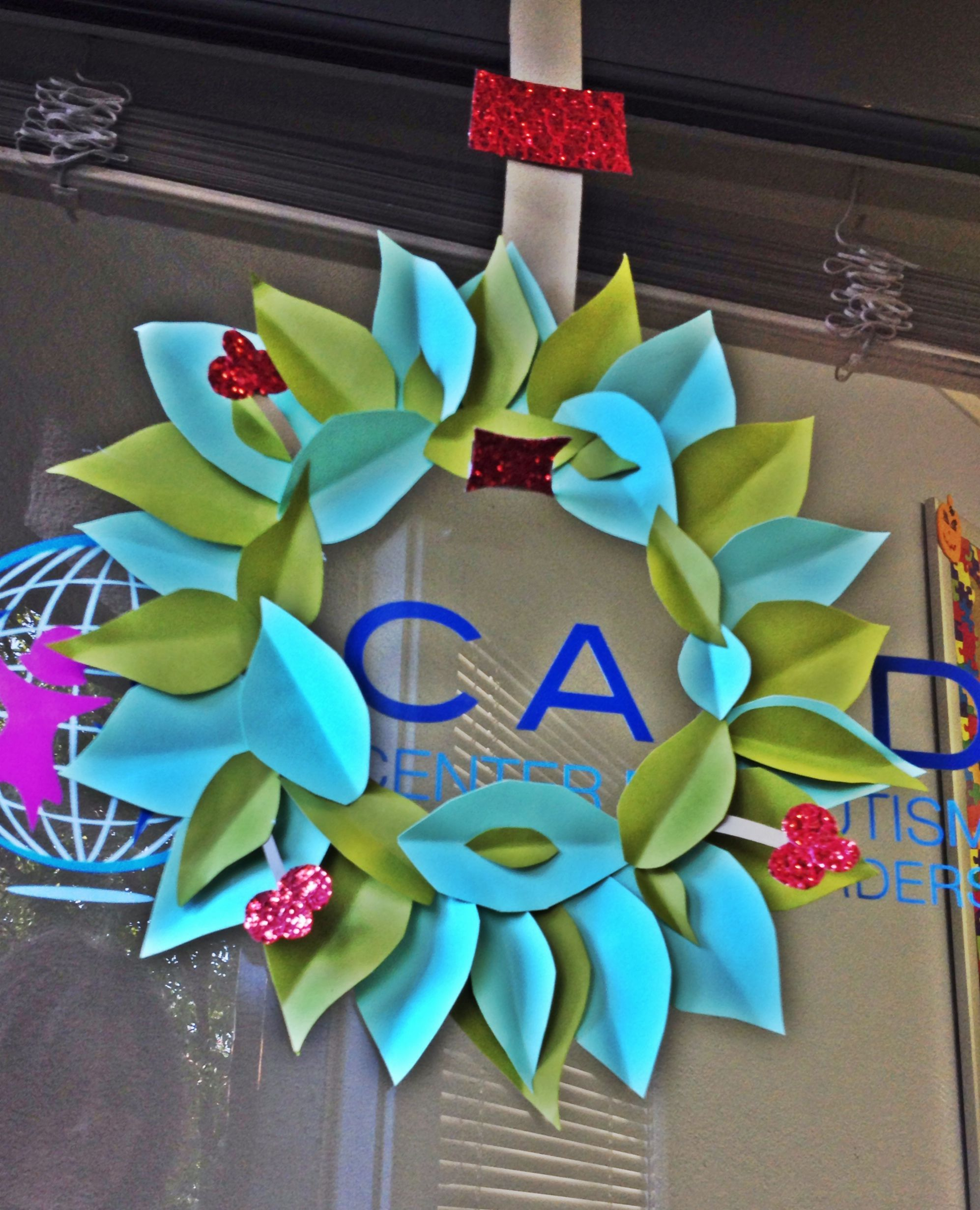office holiday decor. Paper Christmas Wreaths · Holiday DecorChristmas Office Decor I