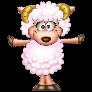 Cute Sheep Animal Clipart Funny Sheep