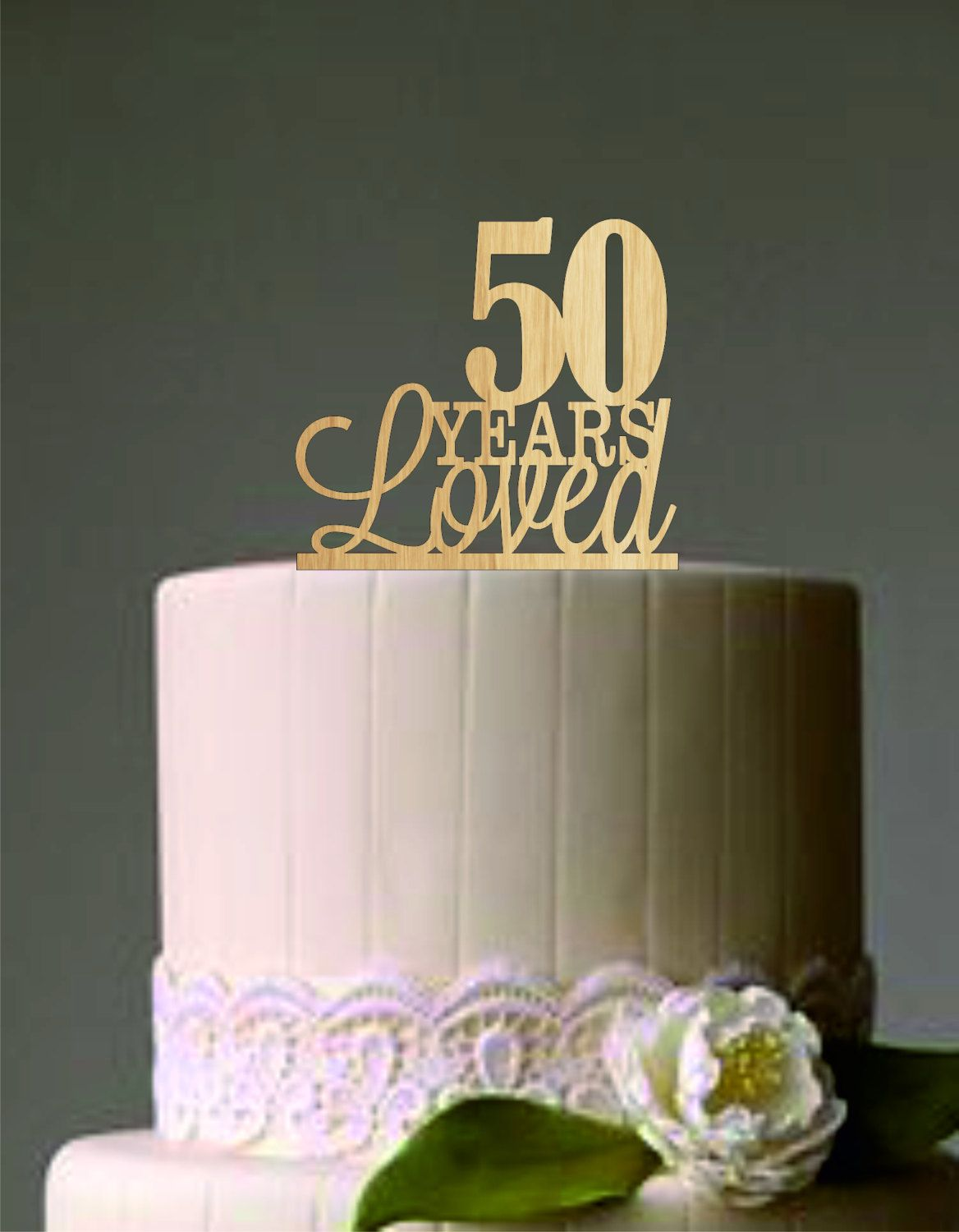 50th Anniversary Cake Topper Birthday Custom Decoration By Caketoppers667 On Etsy
