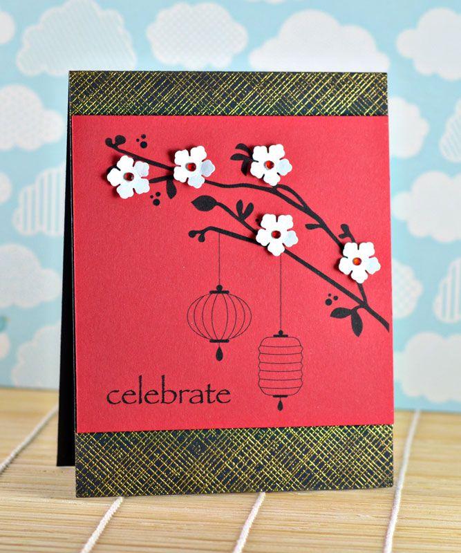 Dahlia Memories Chinese New Year Blog Hop Chinese New Year Card Asian Cards Chinese New Year Crafts