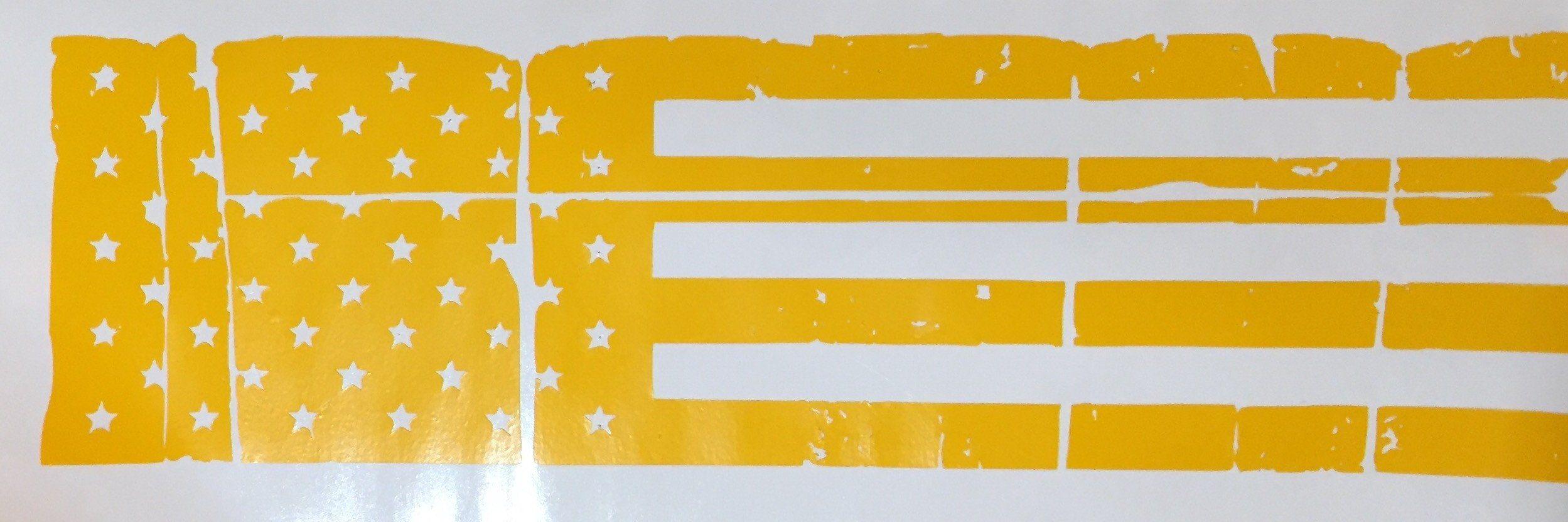 Tattered American Flag Slide Stencil High Heat Vinyl