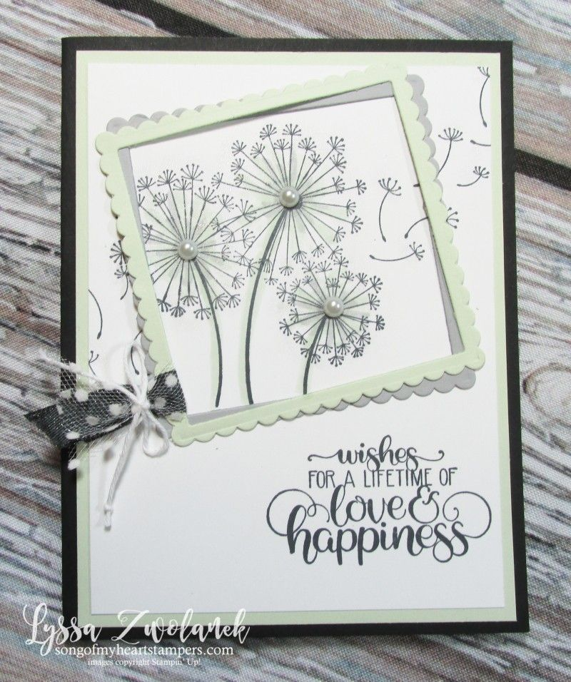 Stampin Up Dandelion Wishes With Frames Stampin Up Wedding Cards Wedding Cards Handmade Pretty Cards