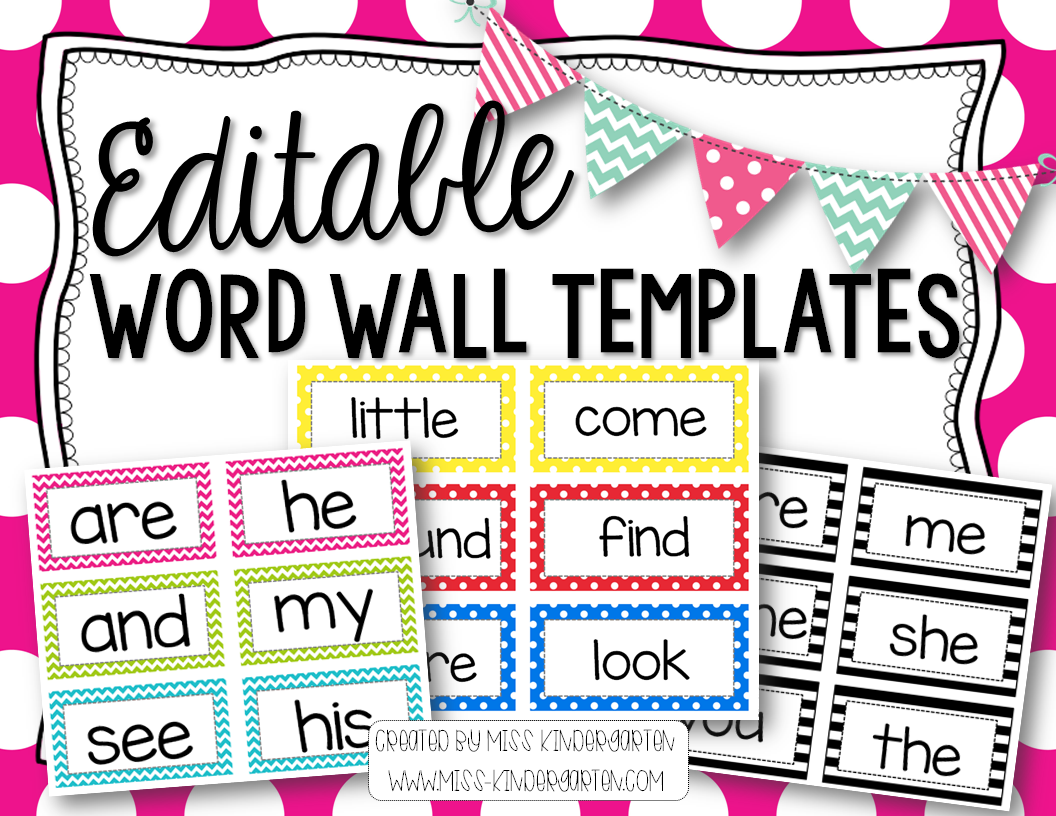 Editable Word Wall Templates Beginning Of The Year