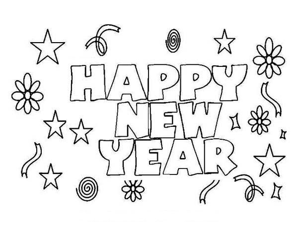 Happy New Year Coloring Pages 2019 Free Printable Happy New Year