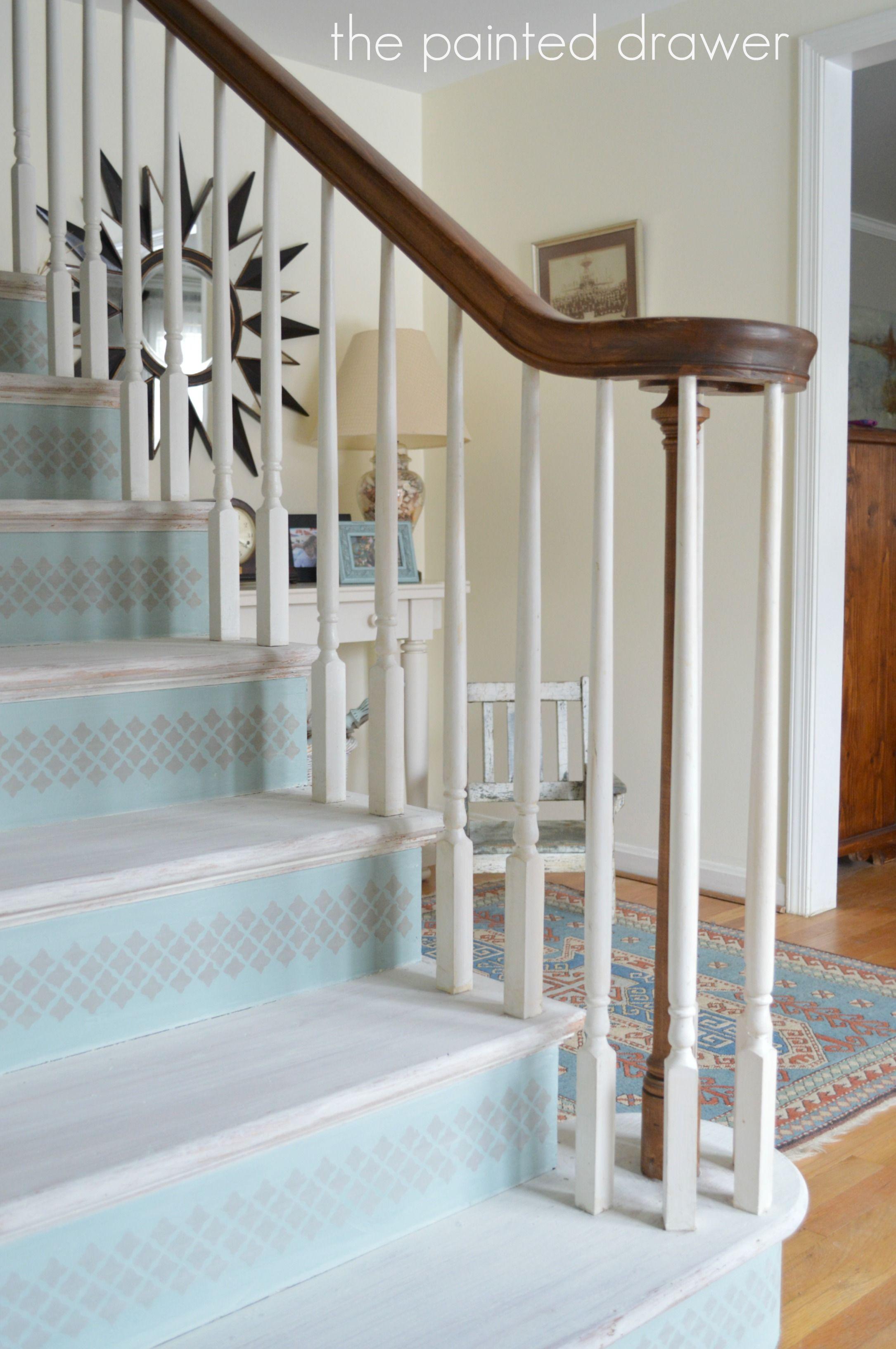 Superior Whitewashed Stairs Www.thepainteddrawer.com