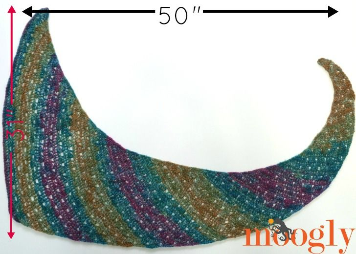 Tango Shawl - Free One Skein #Crochet Pattern on Moogly! | caron ...