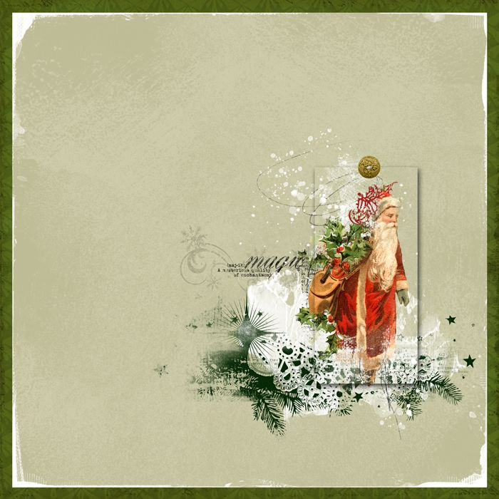 Magic Santa by jcaruth910 at #designerdigitals. Love how she framed the santa!