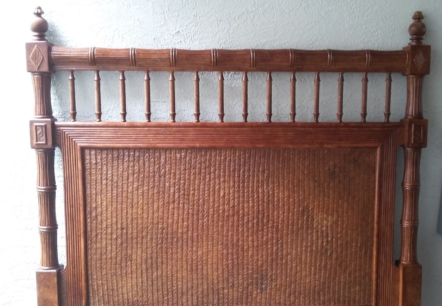 Tommy Bahama Style Faux Bamboo Rattan Queen Headboard by DEGFURNITUREDESIGNS on Etsy