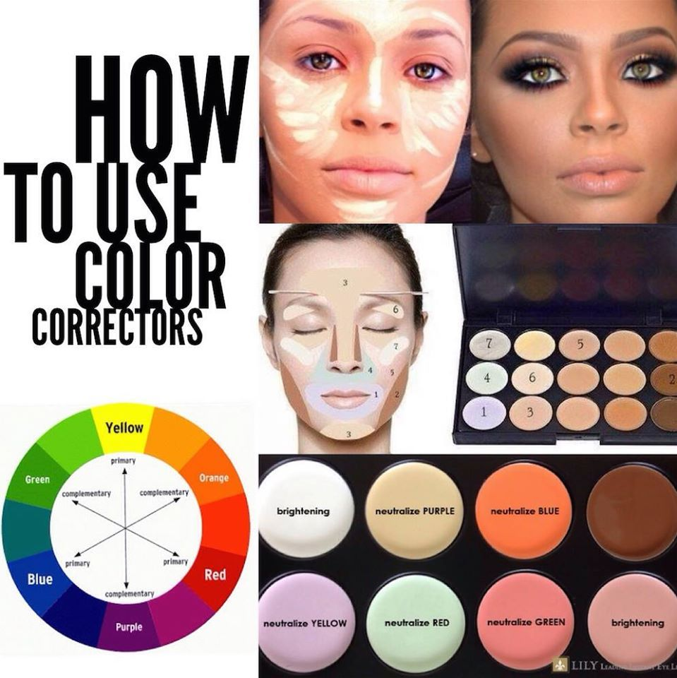 How to use color correctors! Basically, to neutralize a