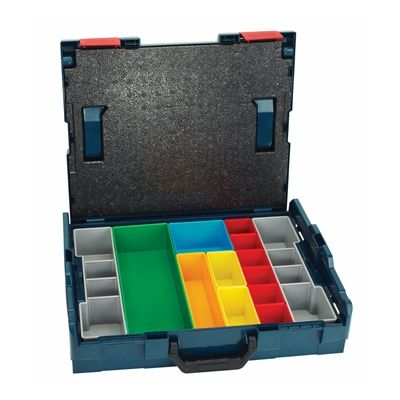 Bosch L-BOXX-1A Stackable Tool Storage Case with 13-Piece Insert Set