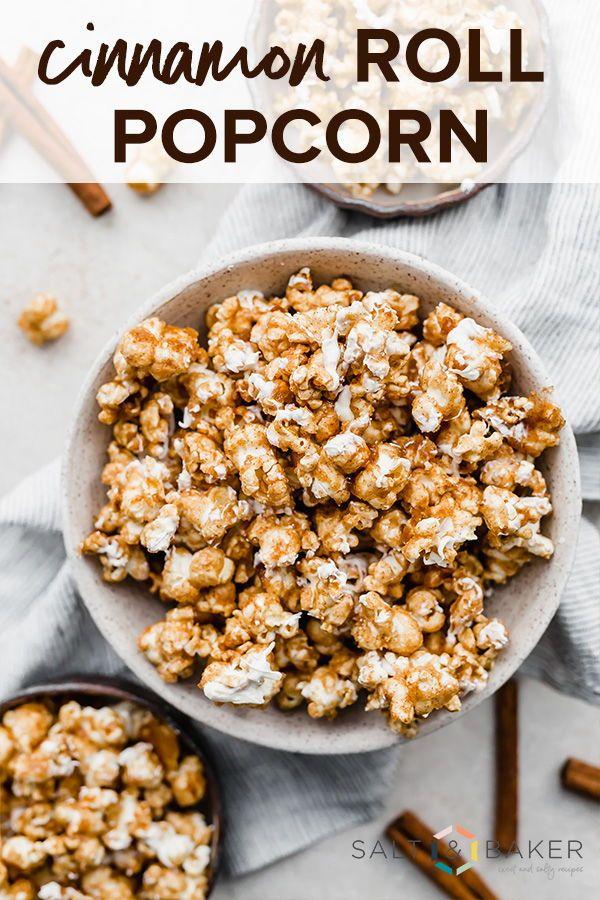 Cinnamon Roll Popcorn — Salt & Baker