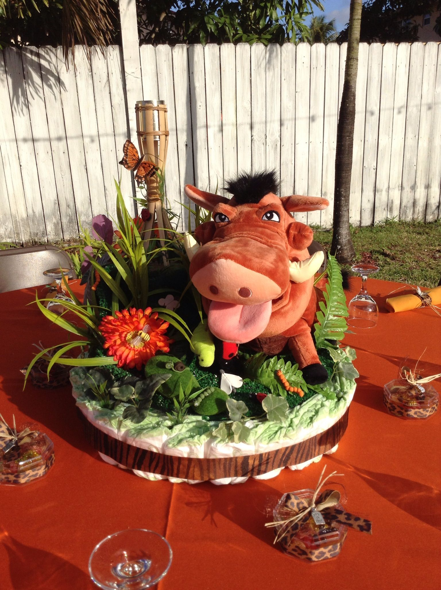 Lion King Baby Shower Centerpiece Candlelight Moments Pinterest