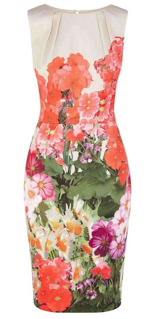 Floral pencil dress.