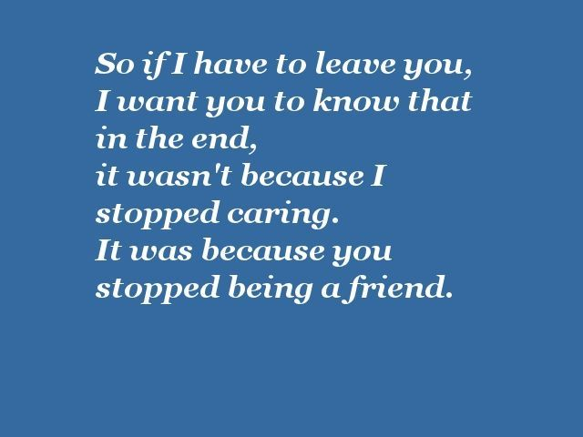 quotes about end of friendship