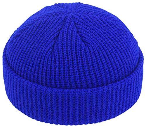 Photo of New SHENLIJUAN Casual Knit hat Korean Version  Autumn  Winter Couple Wool hat Melon Cap Male Warm Cover Female hat (Color : Sapphire Blue, Size : 50-60cm) online – Chicfashiontrendy
