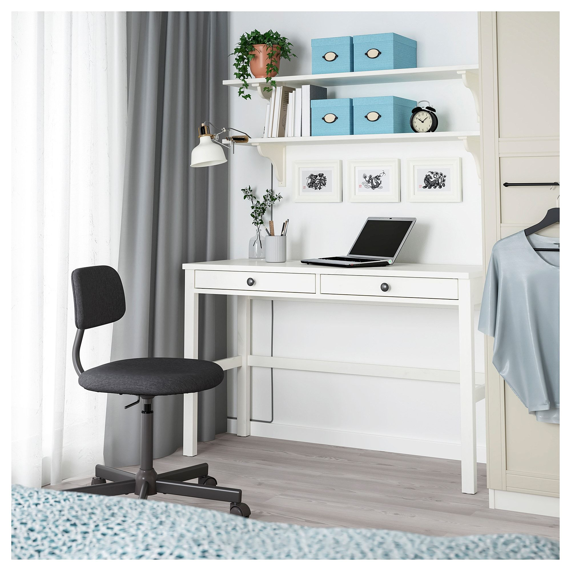 Hemnes Desk With 2 Drawers White Stain 47 1 4x18 1 2 Ikea Ikea Hemnes Desk Hemnes Ikea Hemnes