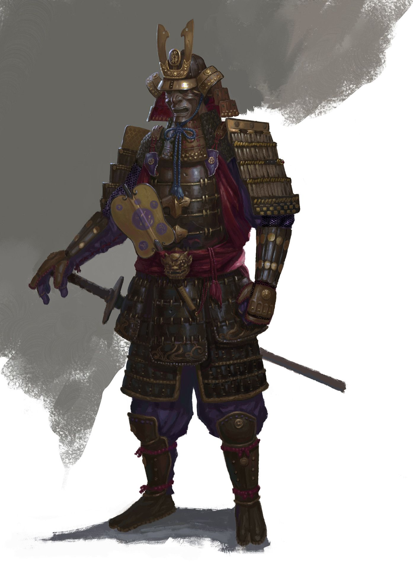 ArtStation - Design, xx r   Historical & Fantasy   Samurai ...  ArtStation - De...