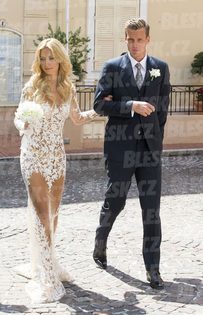 Wedding Foto Tomas Berdych And Ester Satorova Are Married Smile