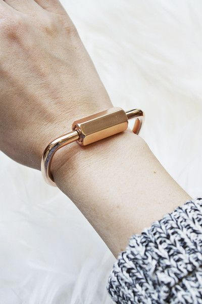 Edgy and industrial, yet feminine (loving the rose gold!). Naomi Cuff, www.mooreaseal.com