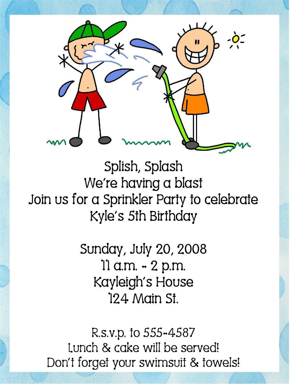 sprinklers party | Pool/Summer/Swim/Sprinkler Birthday Party ...