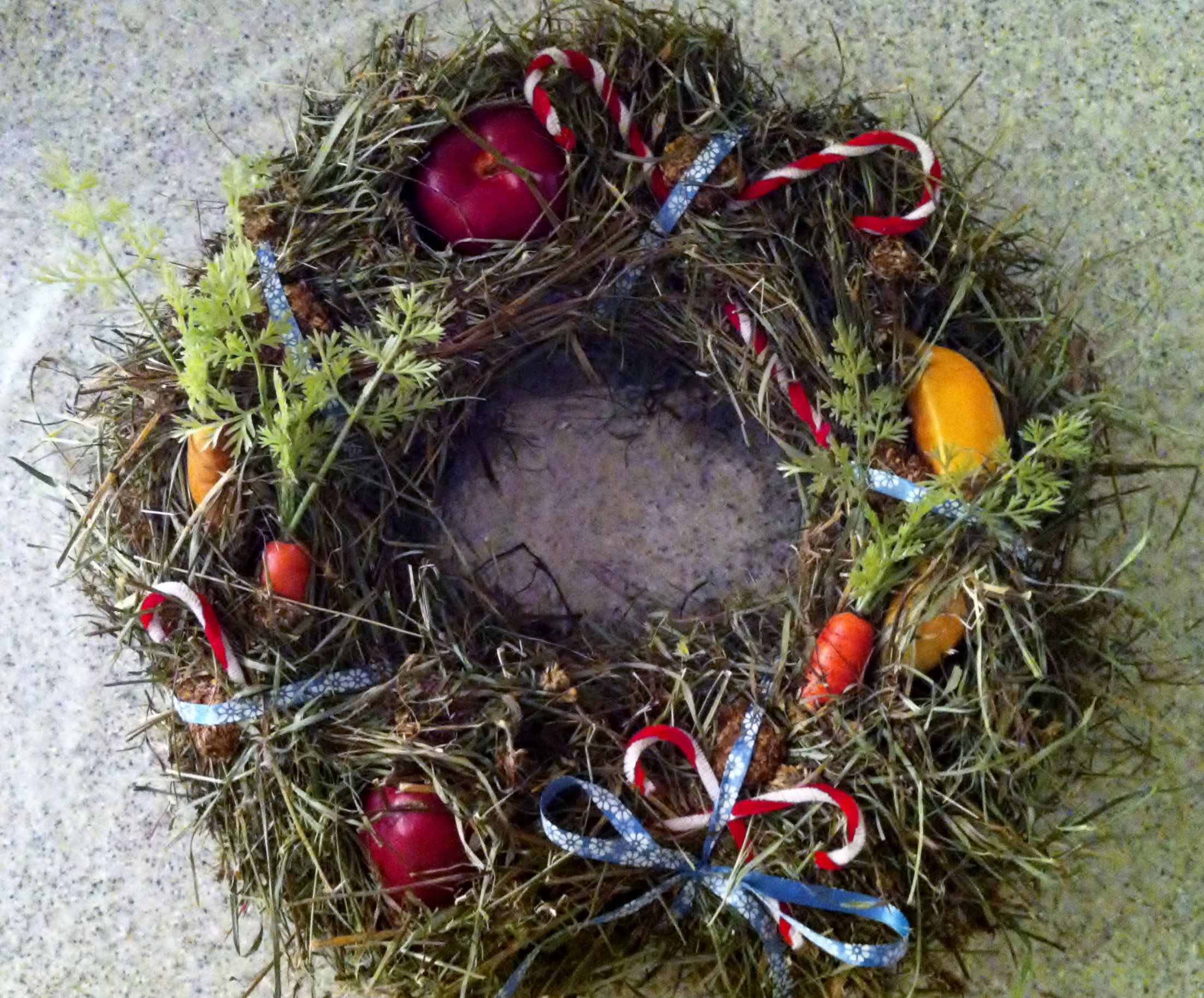 Equine edible wreath, the perfect gift for your horse this Christmas!