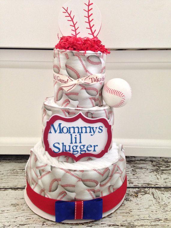 Little Slugger Baby Shower Cake