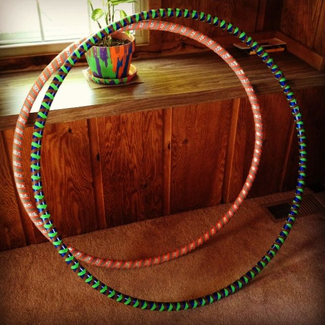 My hoops :) #hooping #pretty #love and COOL painted plant pot!