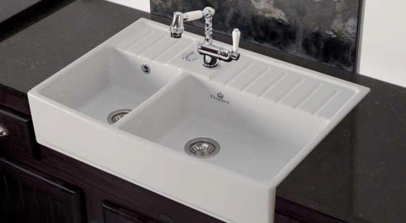 vier blanc chambord poser 2 bacs en luisiceram. Black Bedroom Furniture Sets. Home Design Ideas