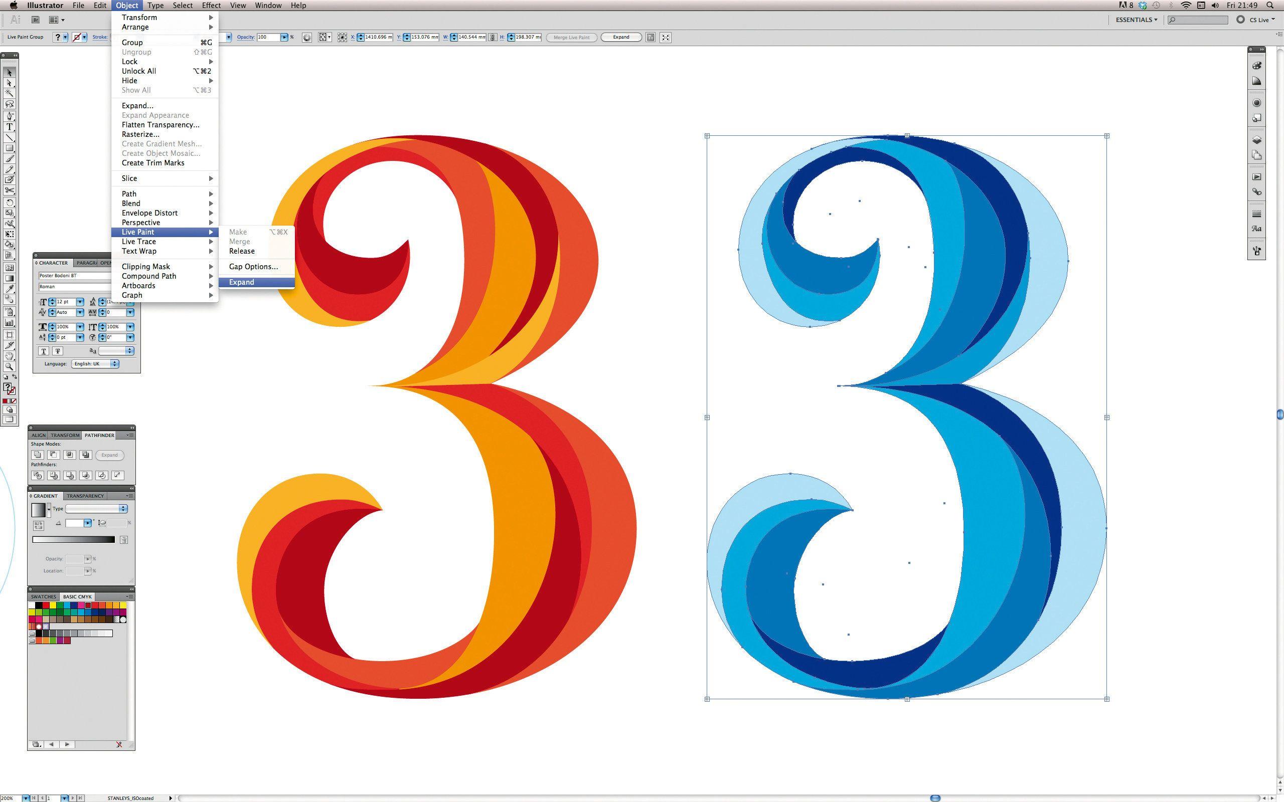 Adobe illustrator photoshop tutorial master illustrators blend adobe illustrator photoshop tutorial master illustrators blend tool digital arts baditri Image collections