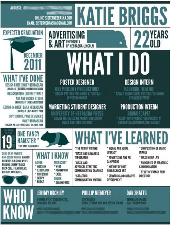 Awesome Resume Examples This Is An Example Of Typography Used In An Infographic Style