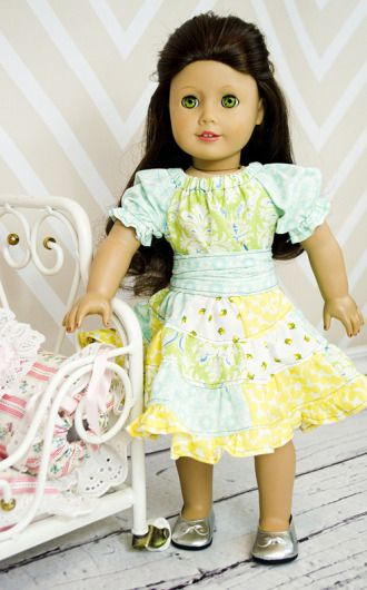Noel\'s Patchwork Twirly Dress for Dolls | YouCanMakeThis.com | Doll ...