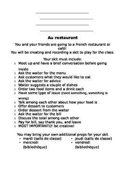 French - Restaurant Skit | French Class | French restaurants
