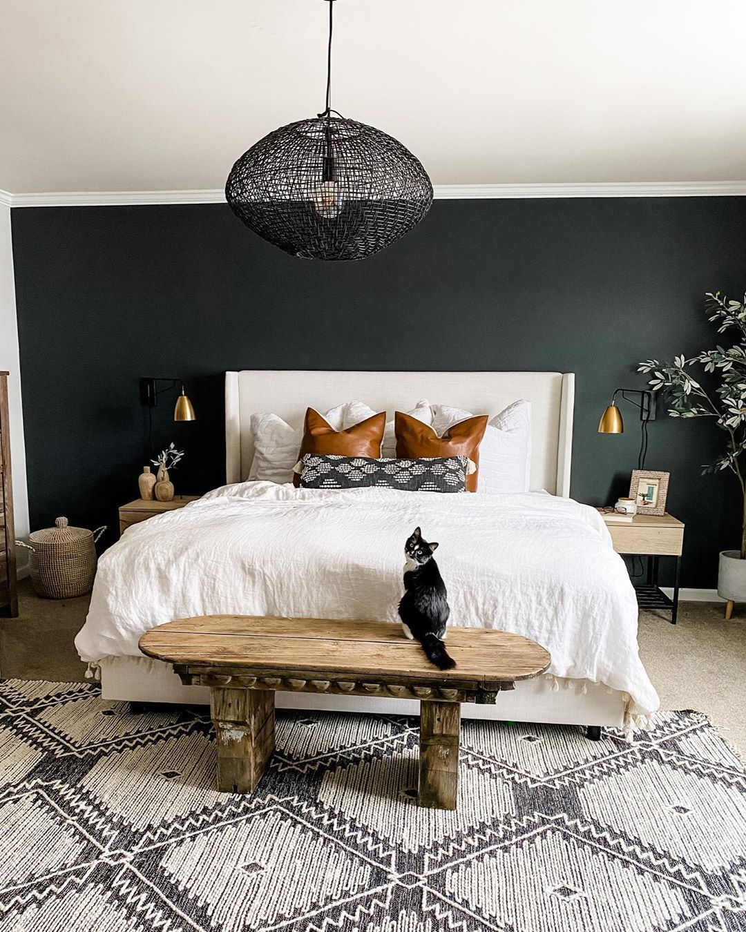 Jess Hupf House On 77th On Instagram This Wrought Iron Accent Wall Color Got Me So Inspired I Ve Started P In 2020 Bedroom Design Home Decor Master Bedrooms Decor