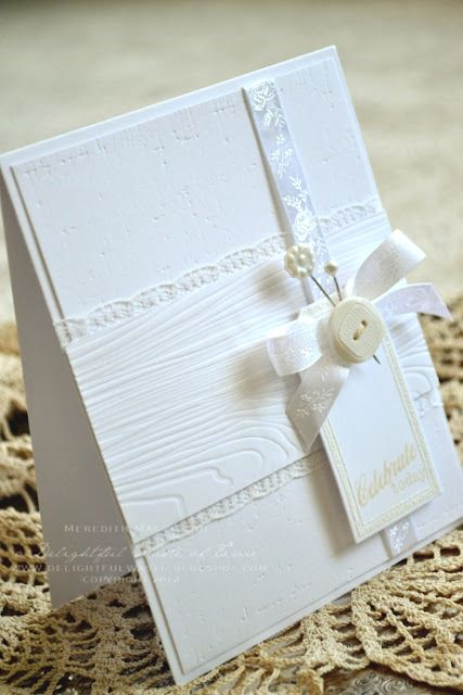 all white card created using papertrey ink impression