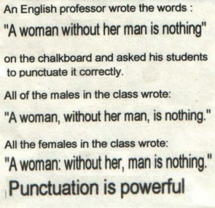 It S All About Perspective The Perspective Changes The Punctuation Get It Right People Words Funny Quotes Punctuation