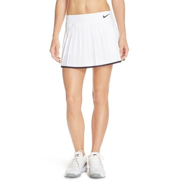 Nike 'Victory' Pleat Dri-FIT Tennis Skirt (88 SGD) ❤ liked on Polyvore featuring activewear, activewear skirts, nike, nike sportswear, nike activewear and tennis skirt