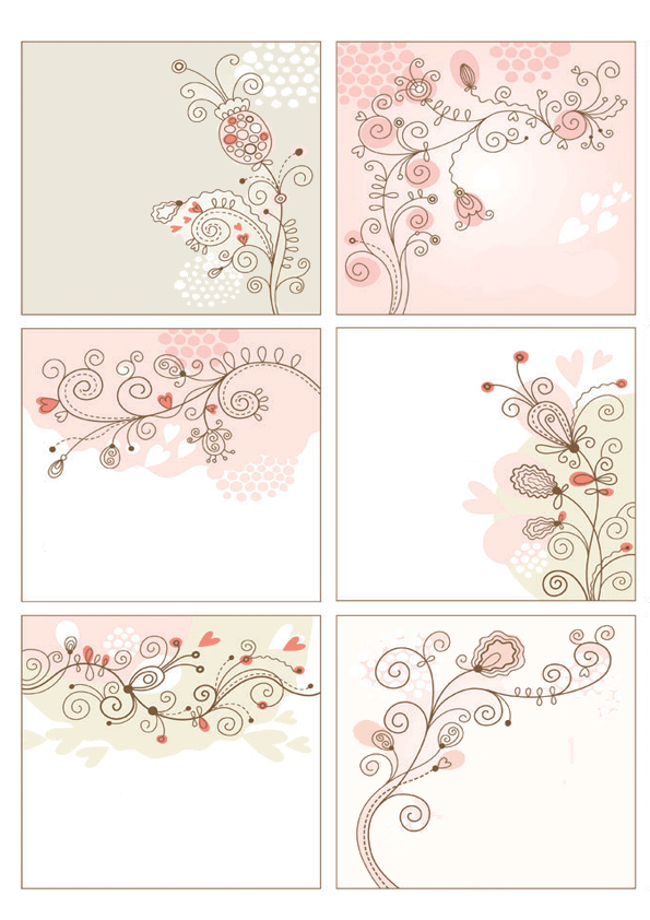 floral tags png