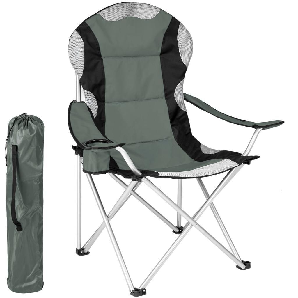 Tectake Campingstuhl Mit Polsterung Grau Camping Chairs