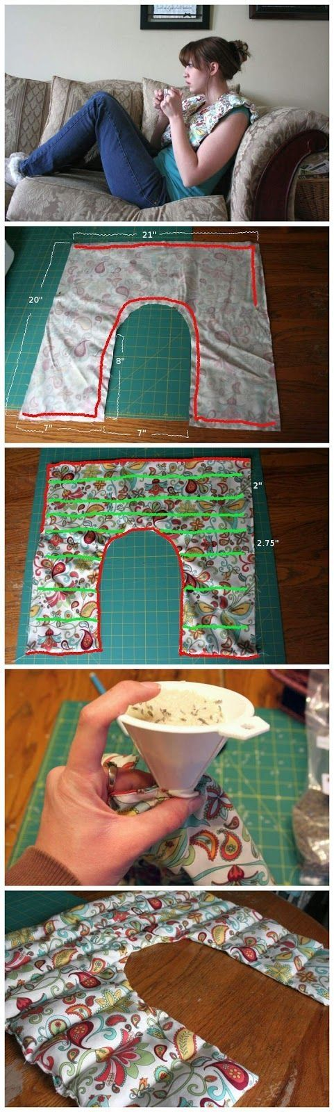 Rice Shoulder Heating Pad, with Lavender Project by jillian