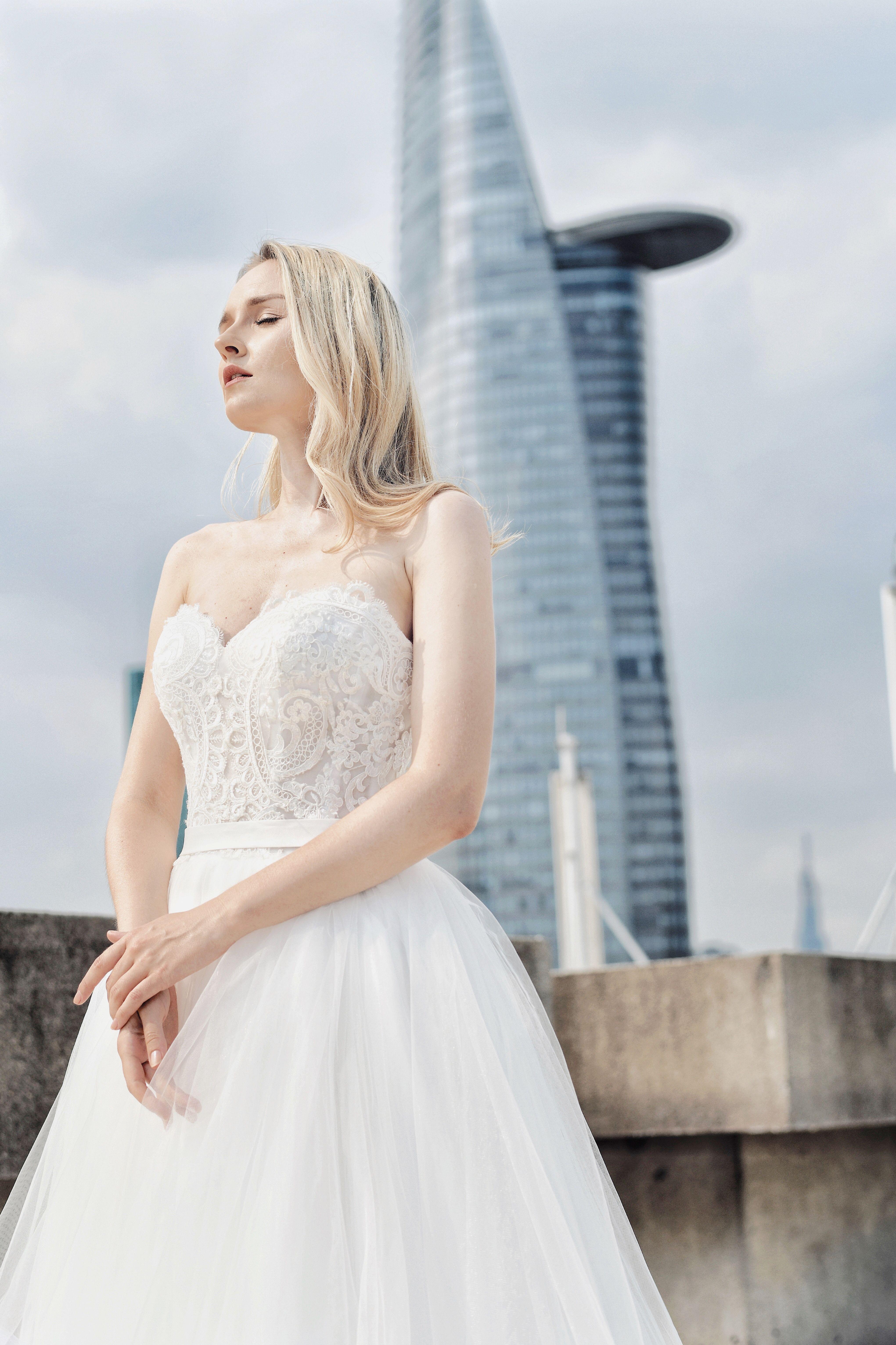 Schatz Mieder / A-Linie Brautkleid / Prinzessin Hochzeit Stil / Vintage Lace Brautkleid
